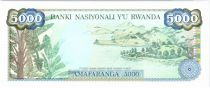 Rwanda 5000 Francs Woman in the plantation - 1988 - UNC - P.22