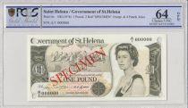 Saint Helena 1 Pound Elisabeth II - Arms - ND 1976 - PCGS 64 OPQ