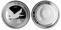 Saint-Kitts et Nevis 2 Dollars Pélican - Elisabeth II - Once Argent 2018