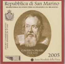 Saint-Marin 2 Euro Galillée 2005