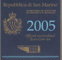Saint-Marin Coffret BU Saint-Marin 2005 - 9 monnaies en euro