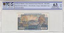 Saint-Pierre and Miquelon 5 Francs - 1946  - SPECIMEN - PCGS 63 OPQ