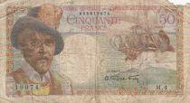Saint-Pierre and Miquelon 50 Francs Belain d\'Esmanduc - 1950-1960 Serial M.4