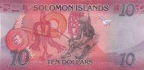 Salomon (îles) 10 Dollars Armoiries, drapeau - Artisanat - 2017