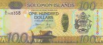 Salomon (îles) 100 Dollars Armoiries - Noix de coco - 2017