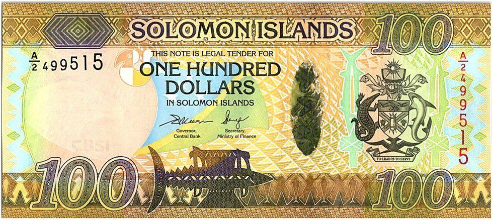 Salomon (îles) 100 Dollars Armoiries - Noix de coco -2015