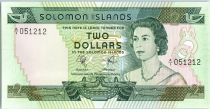 Salomon (îles) 2 Dollars  Elizabeth II - Pêche traditionnelle - 1977
