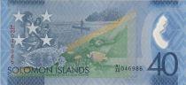 Salomon (îles) 40 Dollars - 40è anniversaire indépendance - Tortue - 1978-2018