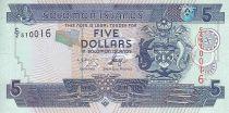 Salomon (îles) 5 Dollars - Armoiries - Bateaux - 2006