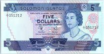 Salomon (îles) 5 Dollars  Elizabeth II - Bateaux, masque - 1977