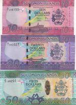 Salomon (îles) Série 3 billets 10, 20, 50 Dollars - 2017