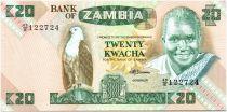 Sambia 20 Kwacha Pres K. Kaunda - woman with basket (1986-1988)