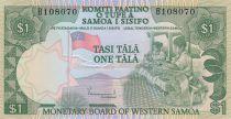 Samoa 1 Tala ND1980 - Ouvrières textile, pirogue de pêcheurs en mer