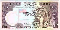 Samoa 10 Tala  - Travailleur agricole - ND 1985 Série C