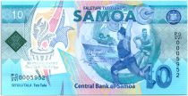 Samoa 10 Tala 2019 - Pacific Games  - Polymer - UNC