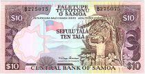 Samoa 10 Tala ND1985 - Agriculture worker, bananas, beach