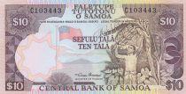 Samoa 10 Tala ND1985 - Travailleur agricole, bananes, plage