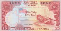 Samoa 5 Tala ND1985 - Ecolier, crique