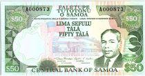 Samoa 50 Tala M. Tanumafili II - Fire Dance - 1990