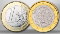 San Marino 1 Euro Arms