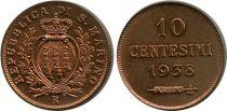 San Marino 10 10 , Arms - 1938