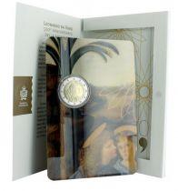 San Marino 2 Euros Leonardo Da Vinci - Bimetal in folder - 2019