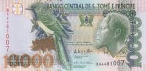 Santo Tomé y Principe 10000 Dobras King Amador, bird - Bridge - 2013