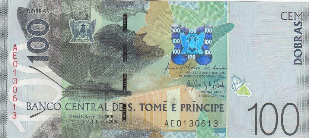 Sao Tomé-et-Principe 100 Dobras Papillons - Oiseau -  2016 (2017)