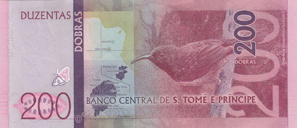 Sao Tomé-et-Principe 200 Dobras Papillons - Oiseau -  2016 (2017)