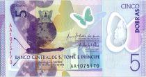 Sao Tomé-et-Principe 5 Dobras Papillons - Musaranho - Polymer 2016 (2017)