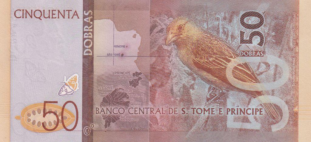 Sao Tomé-et-Principe 50 Dobras Papillons - Oiseau - 2016 (2017)