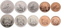Sao Tomé-et-Principe Série 5 monnaies 2017 - Réforme, Nouvelle monnaie