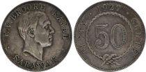 Sarawak 50 Cent Charles V Brooke  - 1927 H