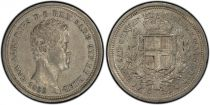 Sardaigne 25 Centesimi Charles-Albert - Armoiries - 1833 P - PCGS AU 53