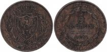 Sardaigne 5 Centesimi Armoiries - 1826