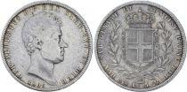 Sardaigne 5 Lire Charles-Albert - Armoiries - 1836 P