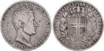 Sardaigne 5 Lire Charles-Albert - Armoiries - 1842 P