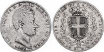 Sardaigne 5 Lire Charles-Albert - Armoiries - 1848 P