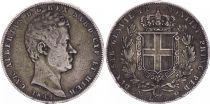 Sardaigne 5 Lire Charles-Albert - Armoiries - 1849 P Ancre  - Géne