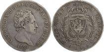Sardaigne 5 Lire Charles Felix - Armoiries -1827 P