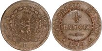 Sardinia 1/2 Baiocco - Roman Republic -1848 R