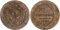 Sardinia 1 Centesimo Charles Felix - Arms -1826 P Anchor