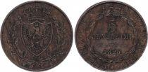 Sardinia 5 Centesimi Arms - 1826