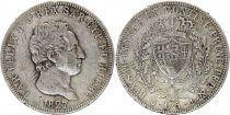 Sardinia 5 Lire Carlo Felix - Arms - 1827 P Genova Silver