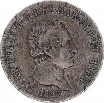 Sardinia 5 Lire Carlo Felix - Arms - 1827 P