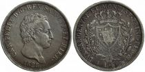 Sardinia 5 Lire Carlo Felix - Arms - 1828 L