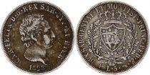 Sardinia 5 Lire Carlo Felix - Arms - 1828 L Torino Silver