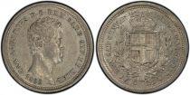 Sardinien 25 Centesimi Charles-Albert - Arms - 1833 P - PCGS AU 53