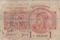 Sarre 1 Franc Mines Domaniales de la Sarre - Type 1920 E 003,236