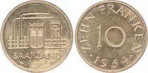 Sarre 10 Franken - 1954 - Essai
